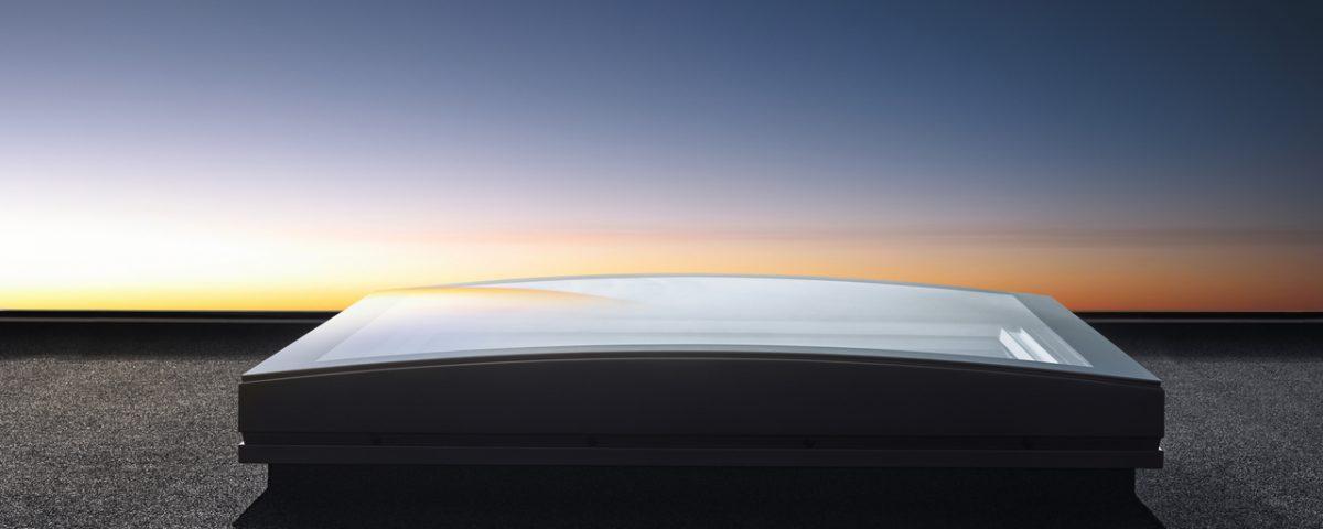 VELUX stelt het nieuwe gebogen platdakvenster voor